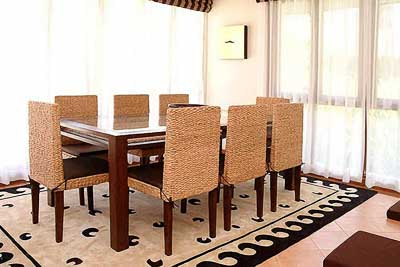 Bamboo table and chairs