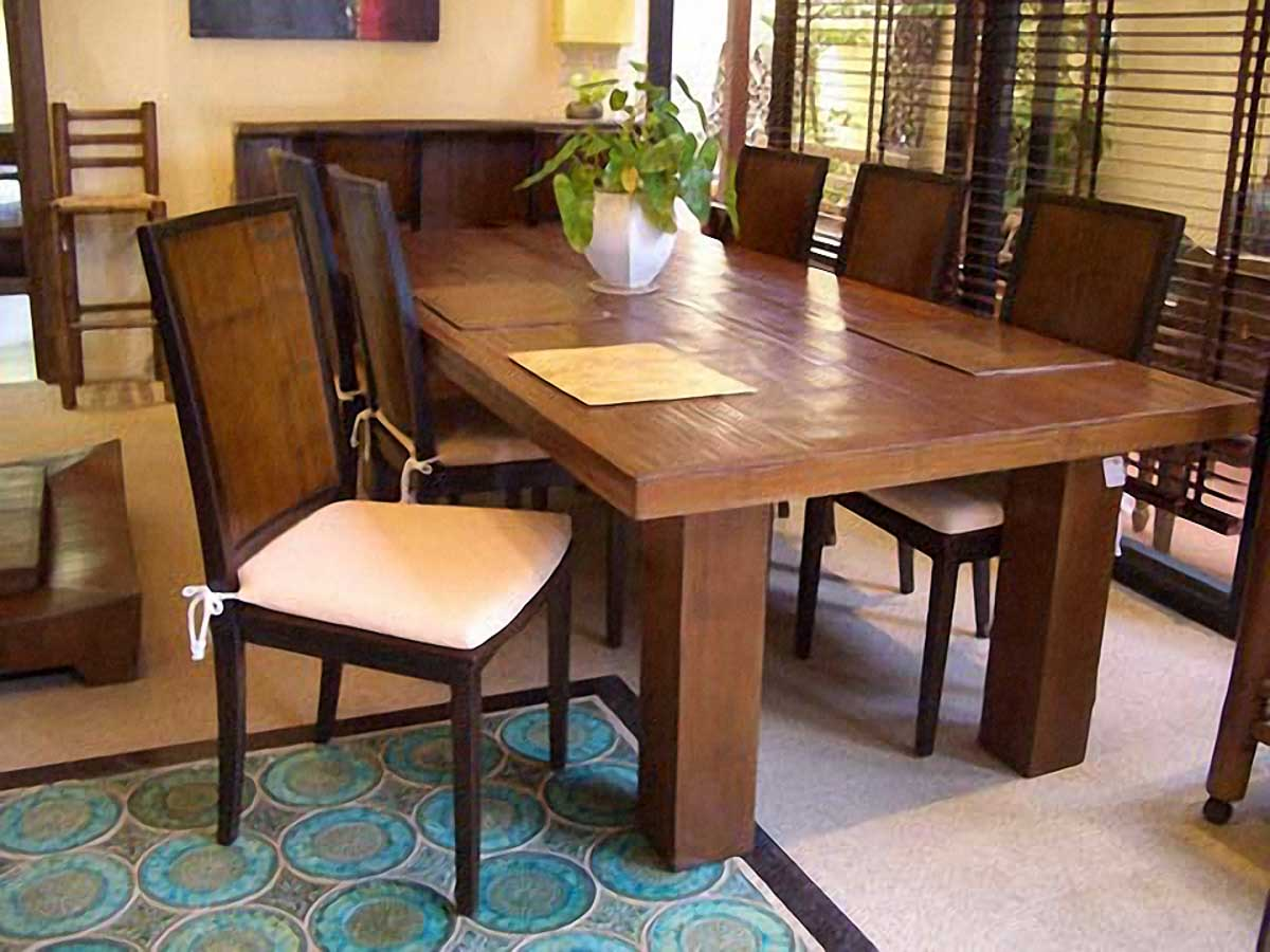 Genial Bamboo Dining Table